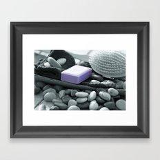 A fresh bath to relax Framed Art Print