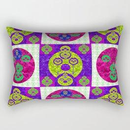 Modern Geometric Interplay Quilt Rectangular Pillow