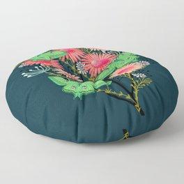 Luna Moth Florals by Andrea Lauren  Floor Pillow
