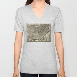 The Lost Cause, Civil War Map (1861-1865) Unisex V-Neck