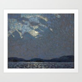 Tom Thomson - Moonlight over Canoe Lake - Canada, Canadian Oil Painting - Group of Seven Art Print
