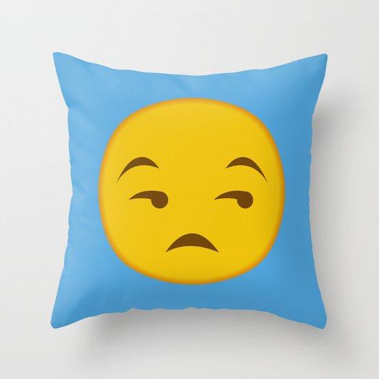 Throw Pillows Elegant : Side Eye Emoji Throw Pillow by Anthonykun Society6