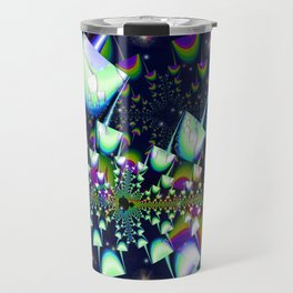 Rainbow psychedelic mushrooms Travel Mug