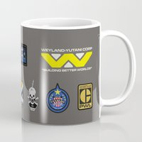 aliens Mugs featuring Aliens by avoid peril