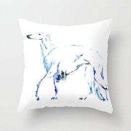 For the Love of Borzoi Throw Pillow