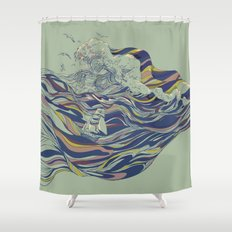 OCEAN AND LOVE Shower Curtain