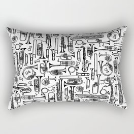 Horns B&W II Rectangular Pillow