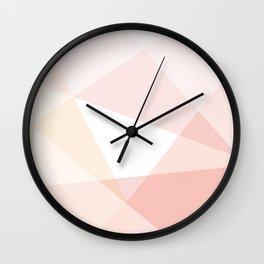 soft pastel beige geometric triangles Wall Clock