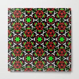 Holly Leaf Pattern Metal Print