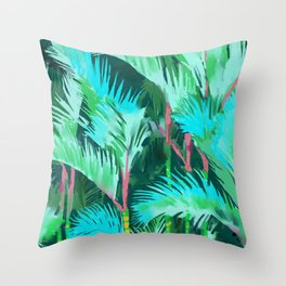 Palm Forest Throw Pillow