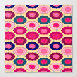 Lotus pattern Canvas Print