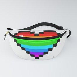 Pixel Rainbow Heart Fanny Pack
