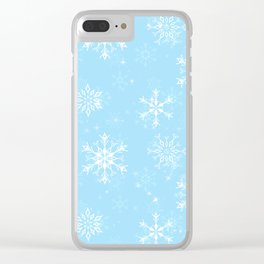 Delicate Snowflake Pattern Clear iPhone Case