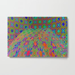 0107 Pattern with perspective ... Metal Print