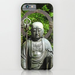 serene bronze Buddha on Mount Koya iPhone Case