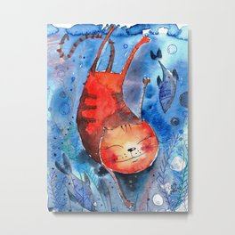 Deep sea world Metal Print
