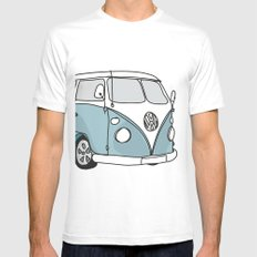 VW Camper Mens Fitted Tee MEDIUM White