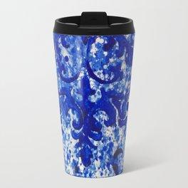 Monochrome Blue Travel Mug