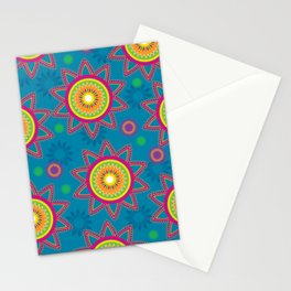 Moroccan Flower Blue Stationery Cards