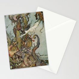 The Little Mermaid, Vintage Art Nouveau Illustration Stationery Cards