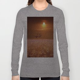 bird and yellow Long Sleeve T-shirt