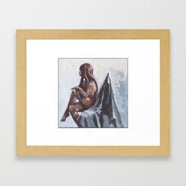 Sitting I Framed Art Print