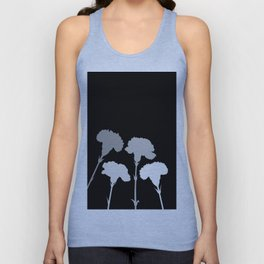 Carnation Silhouettes in Monochrome Unisex Tank Top