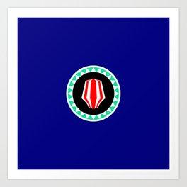 flag of bougainville Art Print