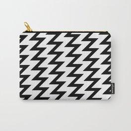 Modern black white trendy chevron zigzag pattern Carry-All Pouch