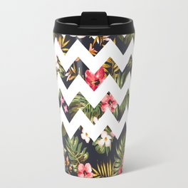 Floral Chevron Travel Mug