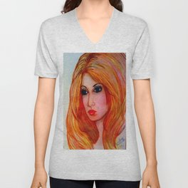 GOLDEN MARIAH Unisex V-Neck