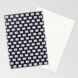 TikTok app button. Pattern design - Dark version Stationery Cards