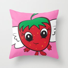 FlyBerry Kiddo Pink Throw Pillow