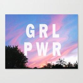 GIRL SKY POWER Canvas Print