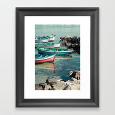 Sicily boats Framed Art Print
