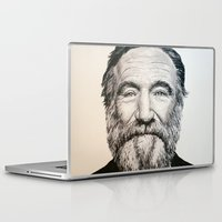 robin williams Laptop & iPad Skins featuring Robin Williams by feralsister