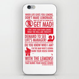 When Life Gives You Lemons iPhone Skin