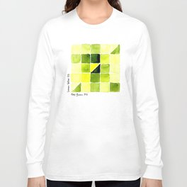 Color Chart - Lemon Yellow (DS) and Sap Green (DS) Long Sleeve T-shirt
