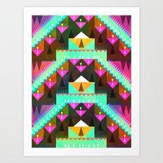 Aztec Mountain Art Print