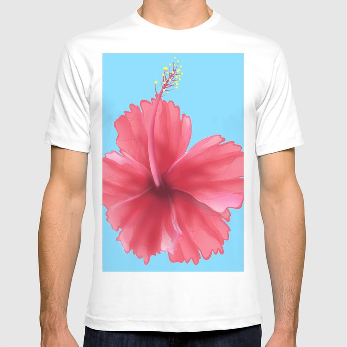 Puerto Rican Hibiscus Flower Print T Shirt By Nicholasgreen Society6