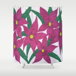 Ultra Violet Lily Bouquet Shower Curtain