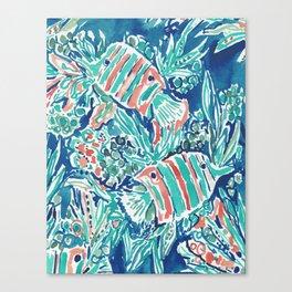 HERE FISHIE Canvas Print