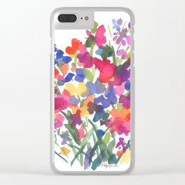 Flower Sprinkles Clear iPhone Case