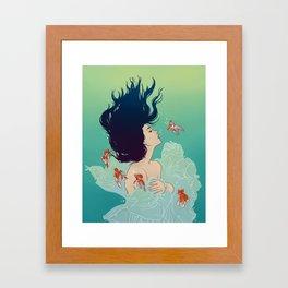 Underwater Lady Framed Art Print