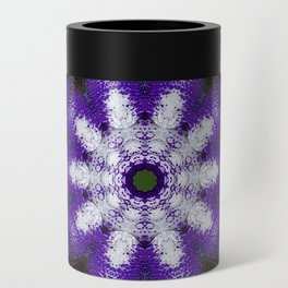 Glowing Violet Star - Iris Stepping Out Kaleidoscope Can Cooler