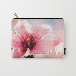 Cherry Blossom Wood Background Carry-All Pouch