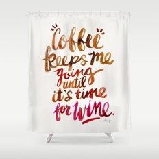 Coffee & Wine – Brown & Magenta Ombré Shower Curtain