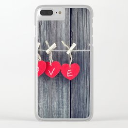Romantic valentine Clear iPhone Case
