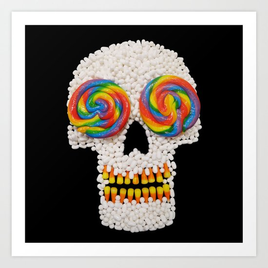 Skullipop Art Print