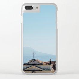Vesuvio and San Martino Church Clear iPhone Case